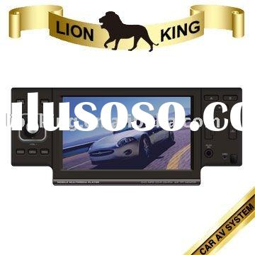 "1 DIN 4.3"" Car DVD with Slide-down Panel+USB+SD"