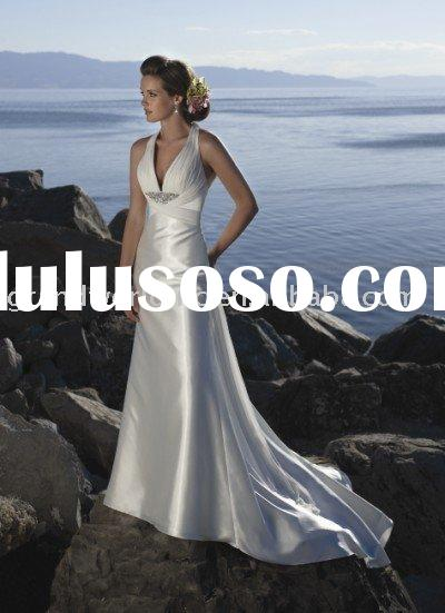 2010 Hot Sell Elegant Halter Wedding dresses Evening Dresses WJ-30-0069