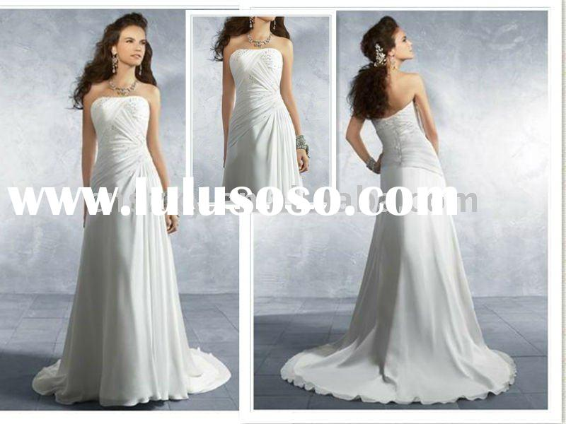 2012 new design wedding dresses a line bridal gowns for for Crystal design wedding dresses price