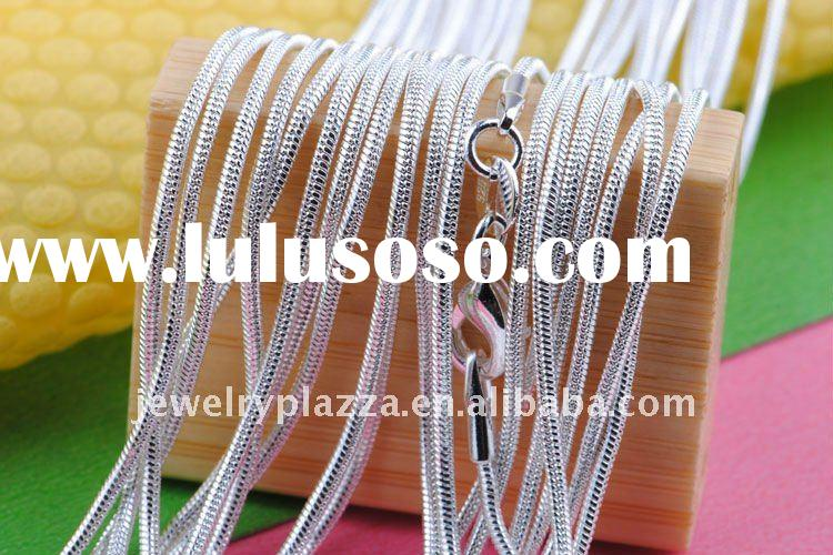 2011 FASHION wholesale silver plate chains,silver snake chains