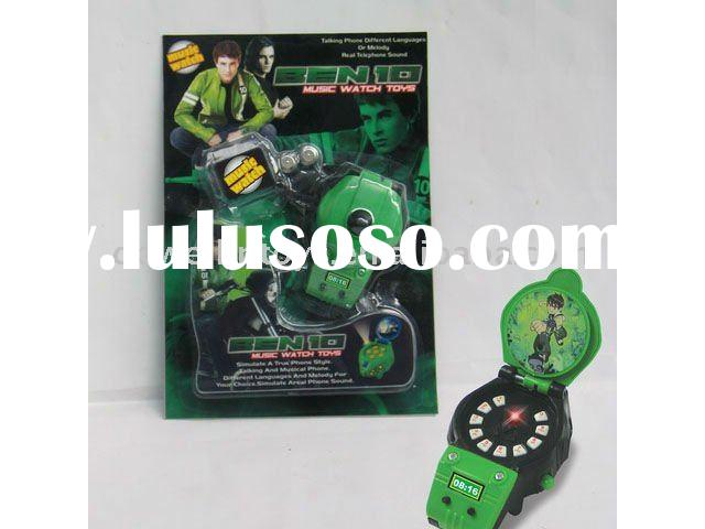2011 Hot Sales ben 10 watch toys +Music+Light