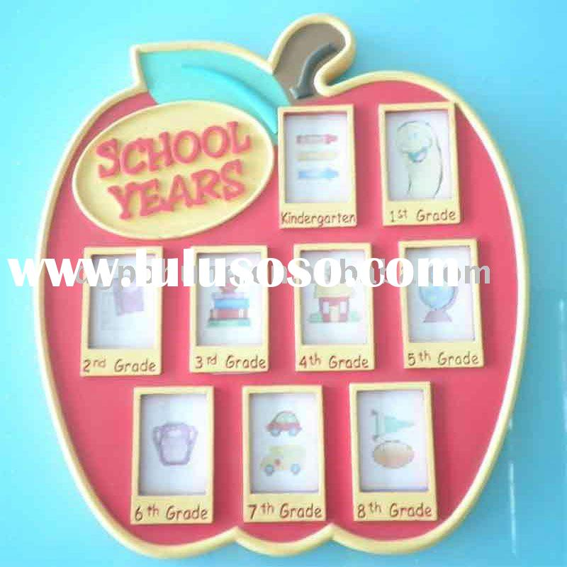 2011 New Style Plastic Photo Frame Photo Album Decorative Photo Panel for Kids' School Year