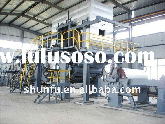 2011 hot 1092type tissue paper machine, 1.5-2 T/D, waste paper, pure wood pulp, wheat straw, wood, s
