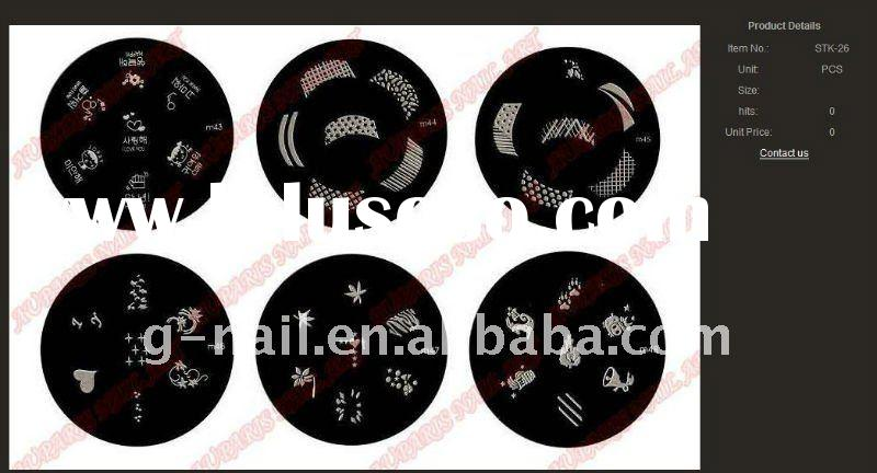 2011 konad nail art products ---stamping plate
