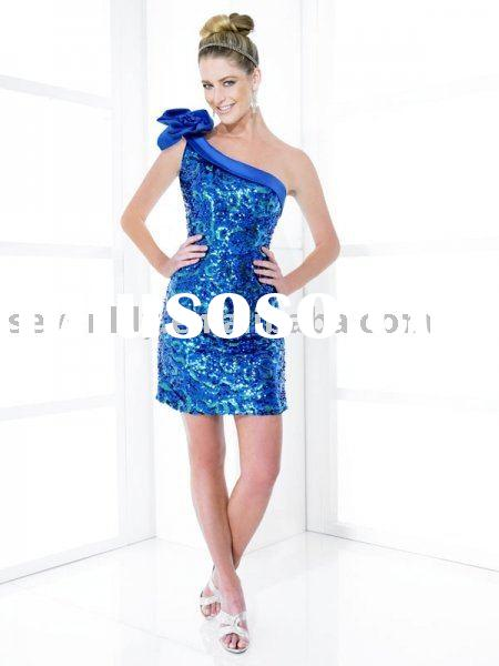 2012 New One-shoulder Strap Fashion Gowns