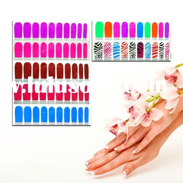 2012 New hot design polish nail sticker for promotion