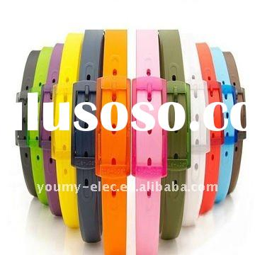 2012 fashionable new popular trends ecofriendly candy silicone belts