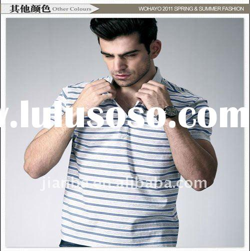 2012 latest 100%cotton top brand polo t-shirt for men