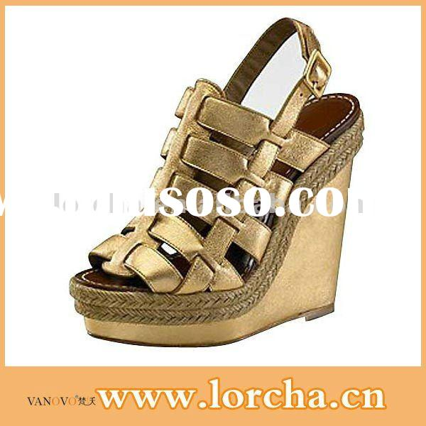 2012 new collection of elegant wedge shoes