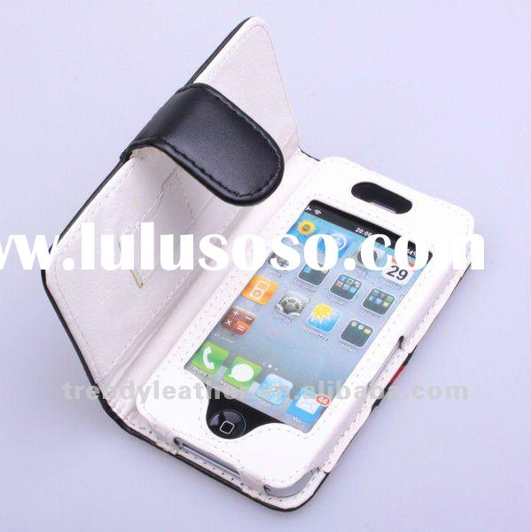 2012 newest fashion leather case for iphone4g phone