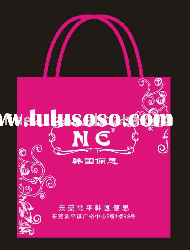 2012 newest style pink pp nonwoven fabric shopping bag