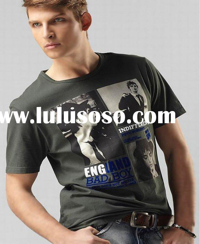 2012 summer hot sale fashion cotton T-shirt printing in humen
