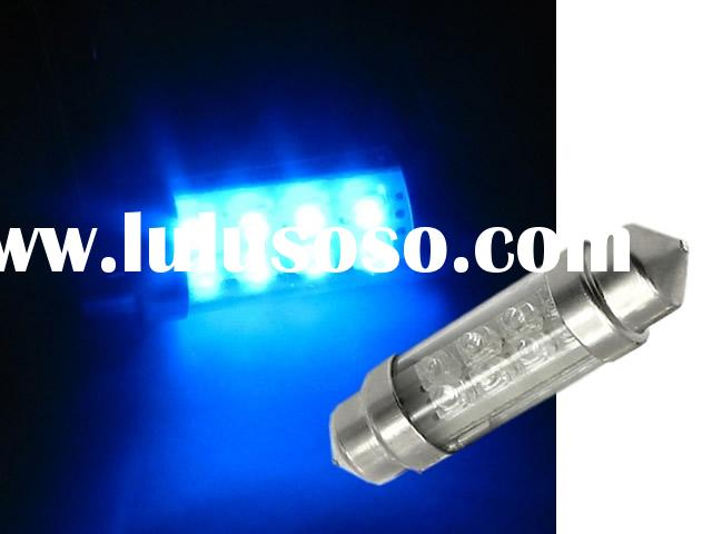 2pcs 8-LED blue Festoon Interior Light Bulbs 39mm/42mm