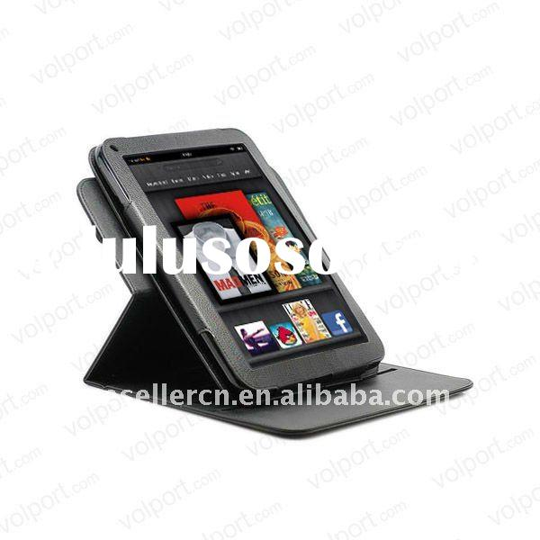 360 degree rotation leather case for kindle fire tablet