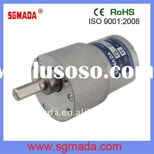 37mm high torque low rpm dc motor with gearbox