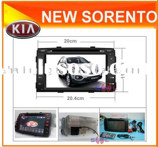 "7"" 2 din autoradio car dvd players with gps for Kia New sorento"