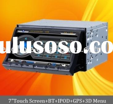 7 inch car dvd with gps/ digital panel/slide down panel, 2-Din DVD player with TV Bluetooth, DVB-T,
