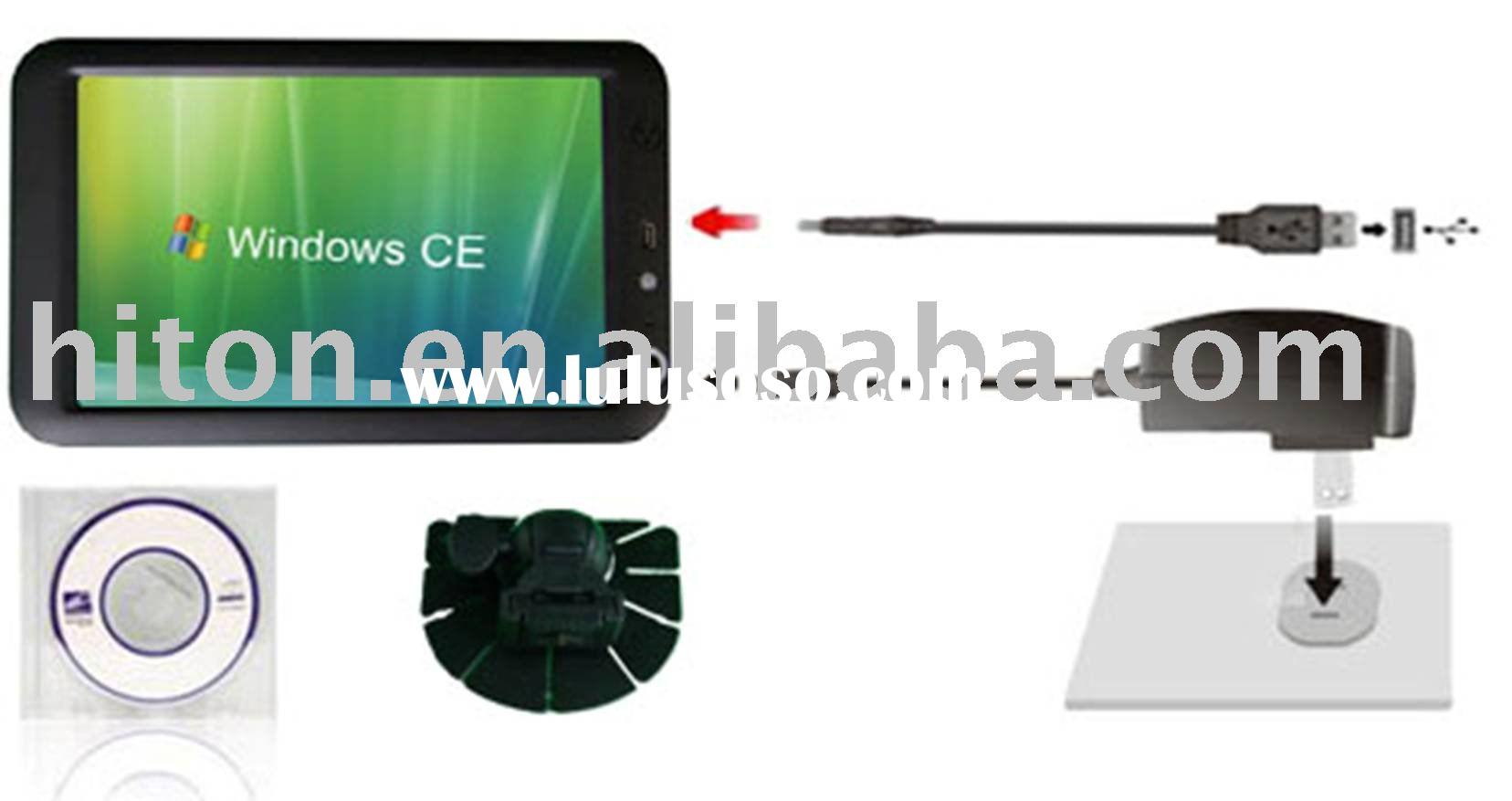 7 inch computer with GPS USB RS232 Serial port wifi bluetooth Ethernet LAN port VGA