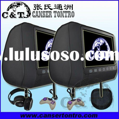 "9"" HD Digital Slot-in Loader Touch Car Headrest DVD Player with Game/USB/SD/IR/FM"