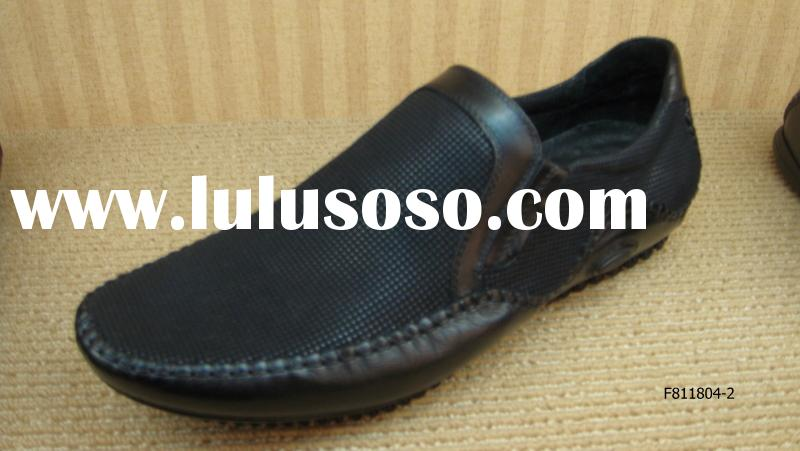 A-B-A 2010 Brown Color Casual Genuine Leather Leathere Mens Shoes OEM Fashion