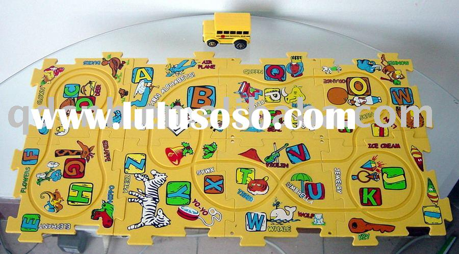 B/O Puzzle Vehicle School Bus toy
