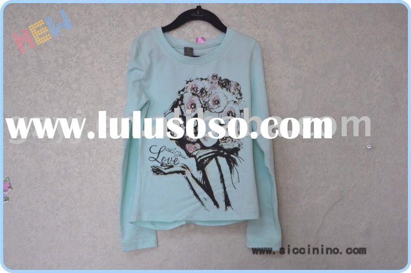 Beautiful Printing Tshirt,100% Cotton T-Shirt , Printing Garment Girls Tshirt