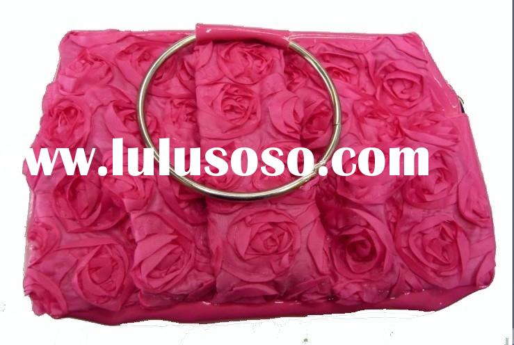 Beauty lady cosmetic bag with rose flowers,made of fabric
