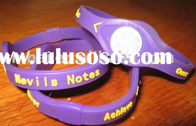Cheapest customized Balance Power Bracelet with Silicone material