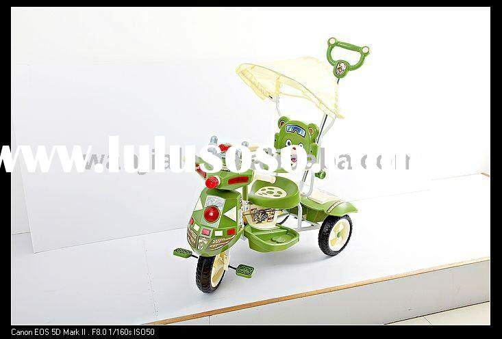 Children's Tricycle in Bear Head Design, with Adjustable Seat