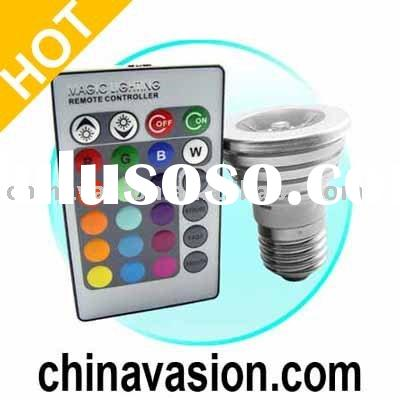 Color Changing LED Light Bulb with Wireless Remote