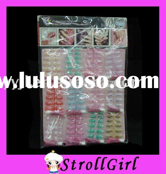 Colorful artificial nail tip