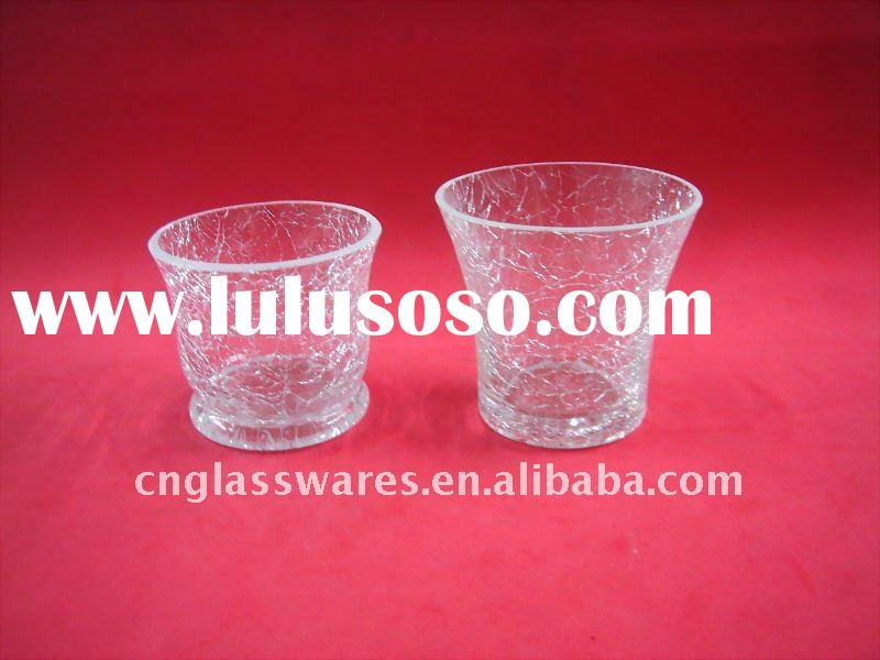 Crackle Glass votive candle holders