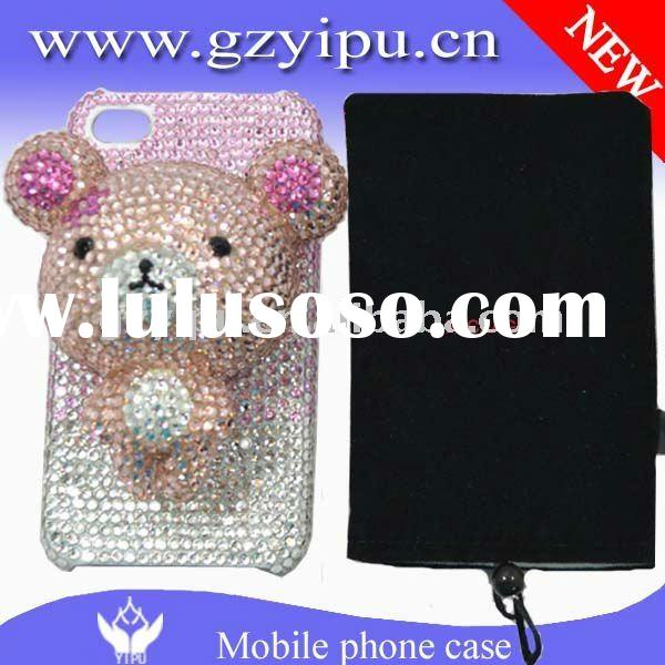 Cute Cartoon 3d Top Quality rhinestone Bling China A Diamoned stone cell phone hard cover cases for