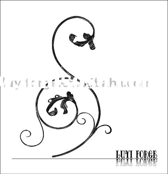 Decorative Forged Wrought Iron Scroll Panel