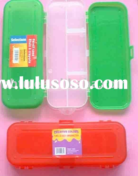 Double Side Cover Plastic School Pencil Case
