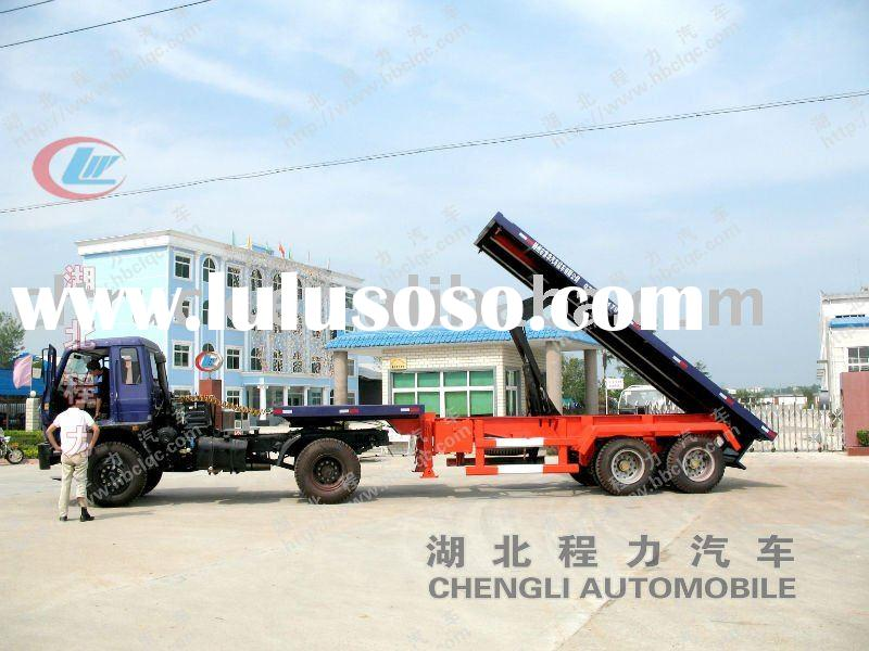 Double axle low bed tipper trailer sale