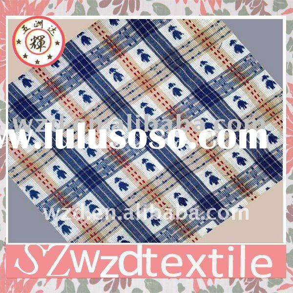 Double sided erode cotton yarn dyed fabric