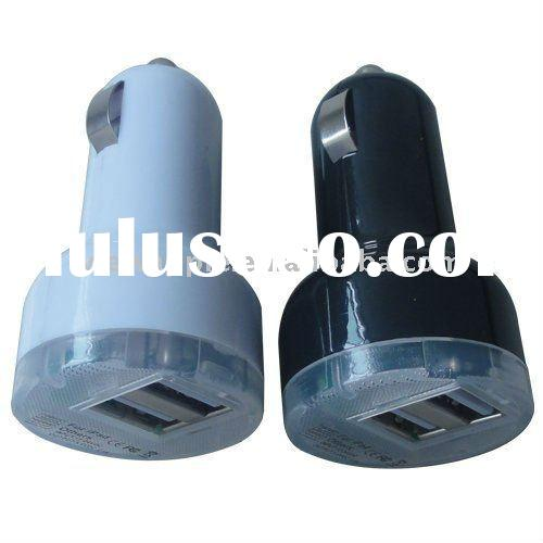 Dual 2 USB mini car charger for ipad iphone