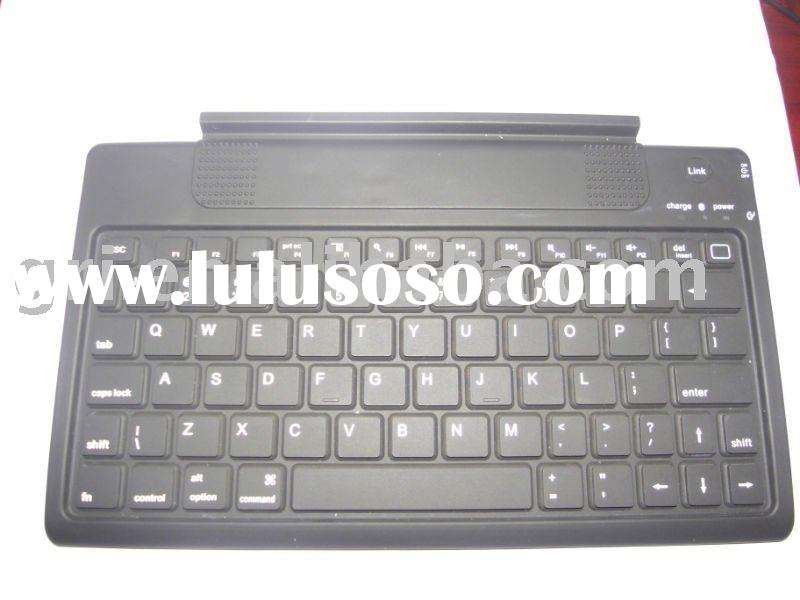 European Layout Bluetooth Keyboard for iPad with Leather Case
