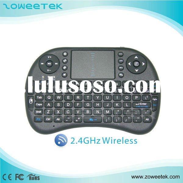 For Ipad PS3 IPTV PC Xbox 360 Android Mini Slim WirelessTV box Keyboard with Touchpad