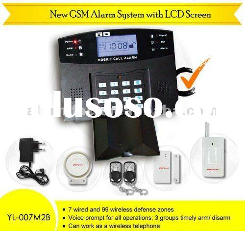 GSM wireless intruder alarm system with LCD display