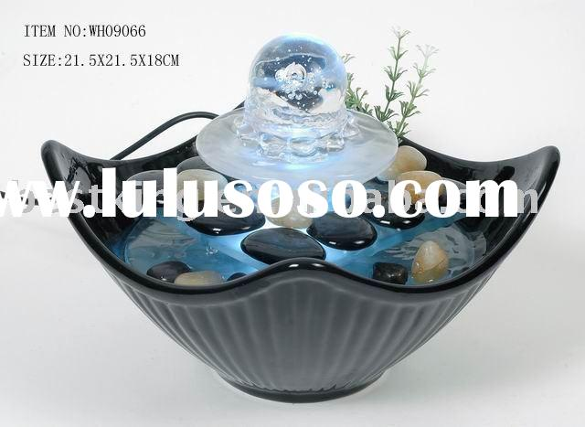 Glass fountain,Water fountain,Indoor fountain WH09066