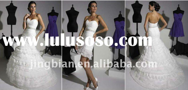 Gorgeous Backless Wedding Dresses China with Beaded Waistline Open Back Bridal Gowns Latest Selling