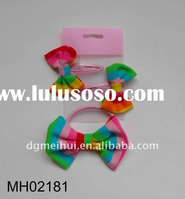 HOT Lily bow hairpins and scrunchine set for girl