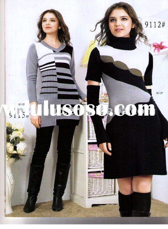 Hot! fashion knitted sweater tops dresses