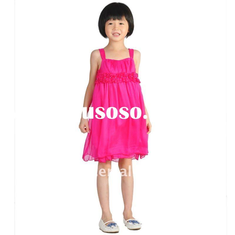 Hot-sale,European Material,Silk&Cotton Fabric,Classic Braces Princess Dress With Lace,girls page