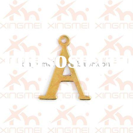 Initial letter A charm pendant fashion jewelry accessories