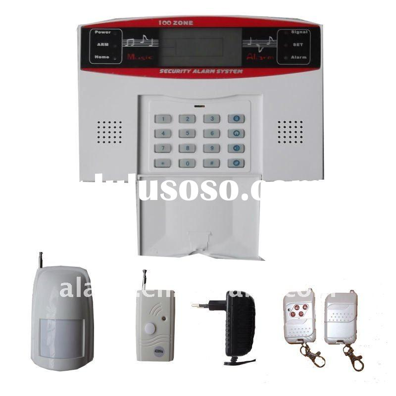 LCD display home wireless alarm system gsm sms