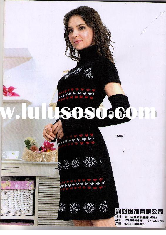 Ladies fashion casual knitted dresses