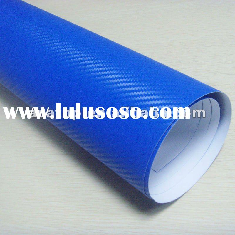 Light blue 3d carbon vinyl film with air free bubbles 1.52x30m/roll